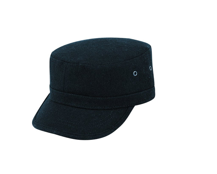 STEFENO WOOL MILITARY CAP BLACK