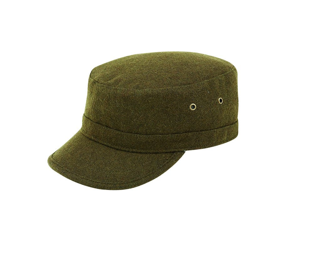 STEFENO WOOL MILITARY CAP OLIVE