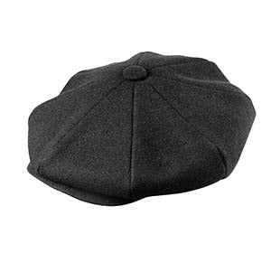 WOOL NEWSBOY BLACK