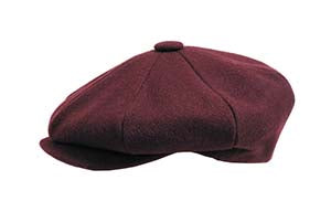 WOOL NEWSBOY BURGUNDY