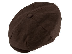 CAPAS LINEN NEWSBOY CAP BROWN