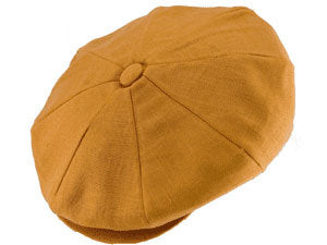 CAPAS LINEN NEWSBOY CAP COPPER