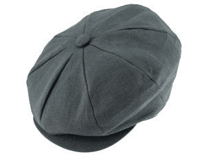 0322db9af2e59 The Linen Newsboy Cap - Mike The Hatter