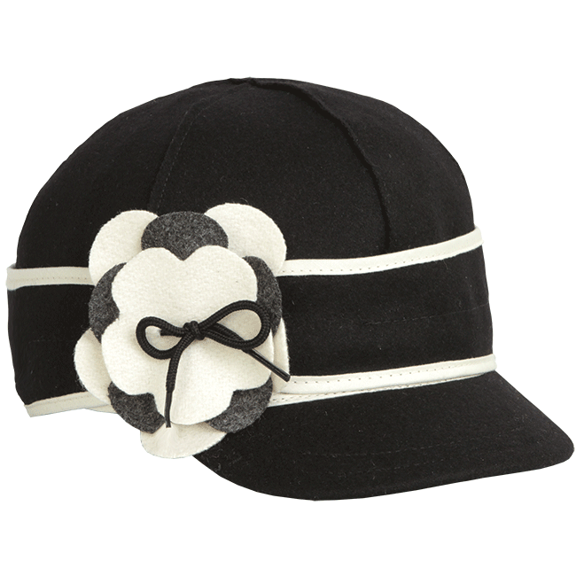 PETAL PUSHER CAP BLACK/WHITE