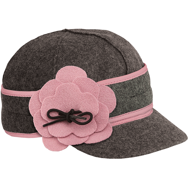 PETAL PUSHER CAP CHARCOAL/PINK