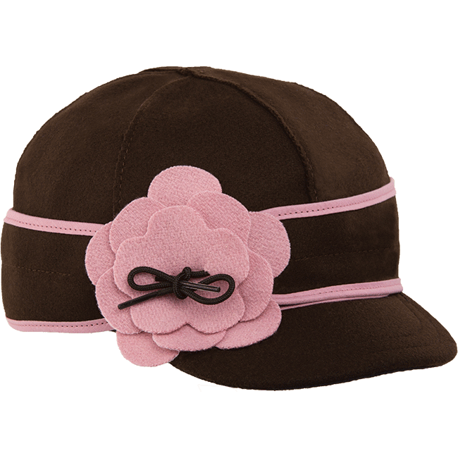 PETAL PUSHER CAP CHOCOLATE/PINK