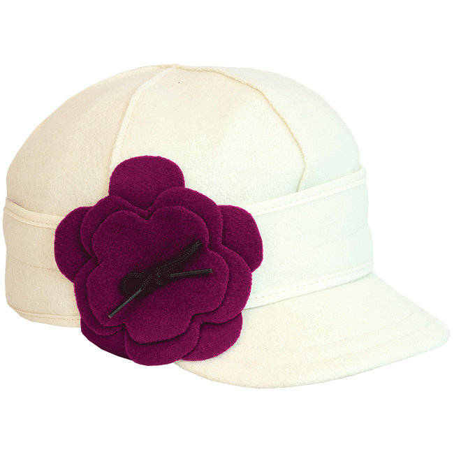 PETAL PUSHER CAP WINTER WHITE/RASPBERRY