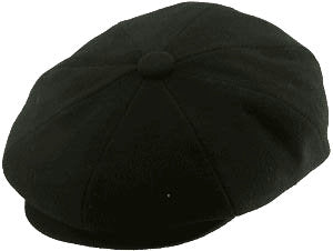 STEFENO CONNER CASHMERE NEWSBOY EARFLAPS BLACK