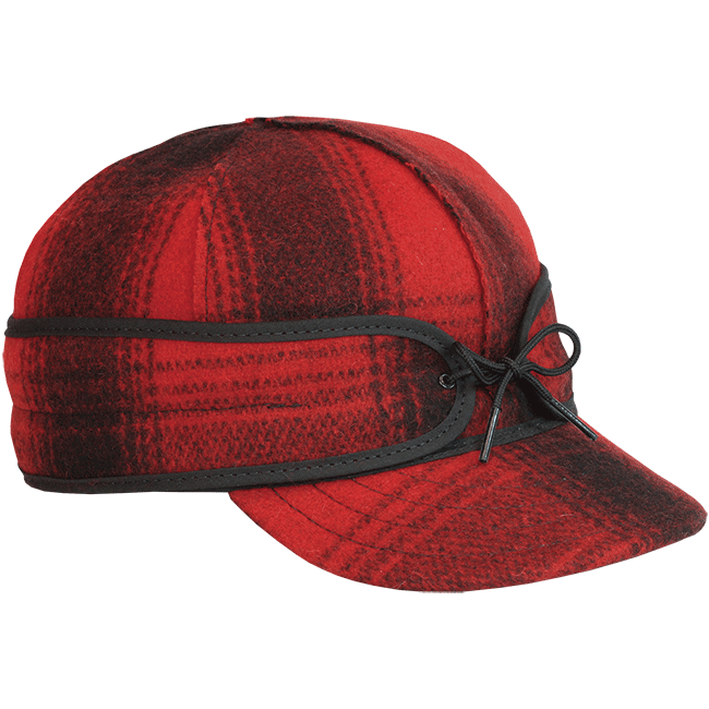 ORIGINAL STORMY KROMER CAP RED/BLACK PLAID