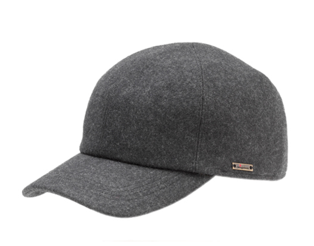 WIGENS BASEBALL CAP CHARCOAL GREY