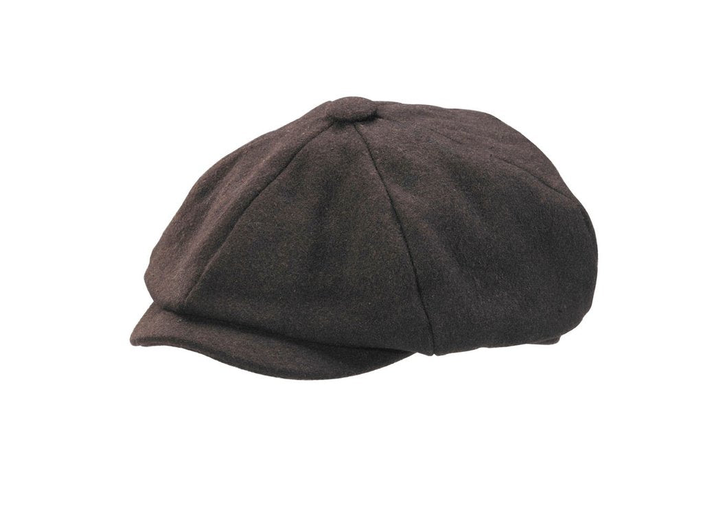 STEFENO CONNER CASHMERE NEWSBOY EARFLAPS BROWN