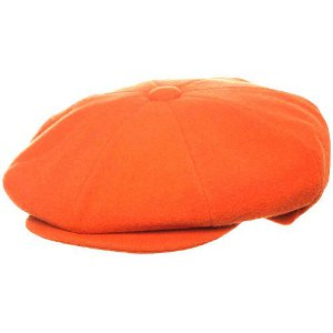 WOOL NEWSBOY ORANGE