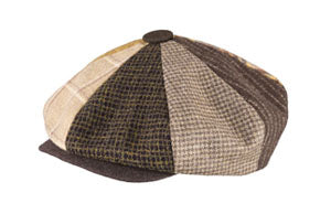 WOOL PATCH NEWSBOY BROWN
