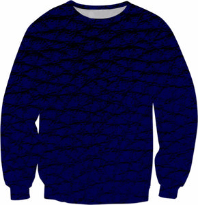 Men's Blue and Black Sweatshirt - Krysia