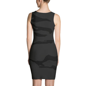 Women's Black/Grey Camo Stretch Dress
