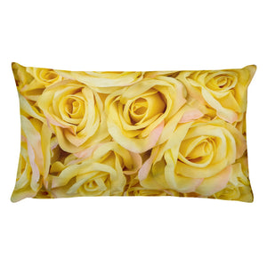 "Yellow Roses Rectangular Pillow - 20"" x 12"""