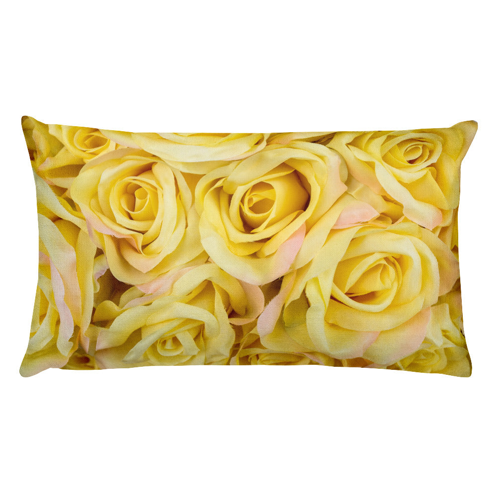 Yellow Roses Rectangular Pillow - 20