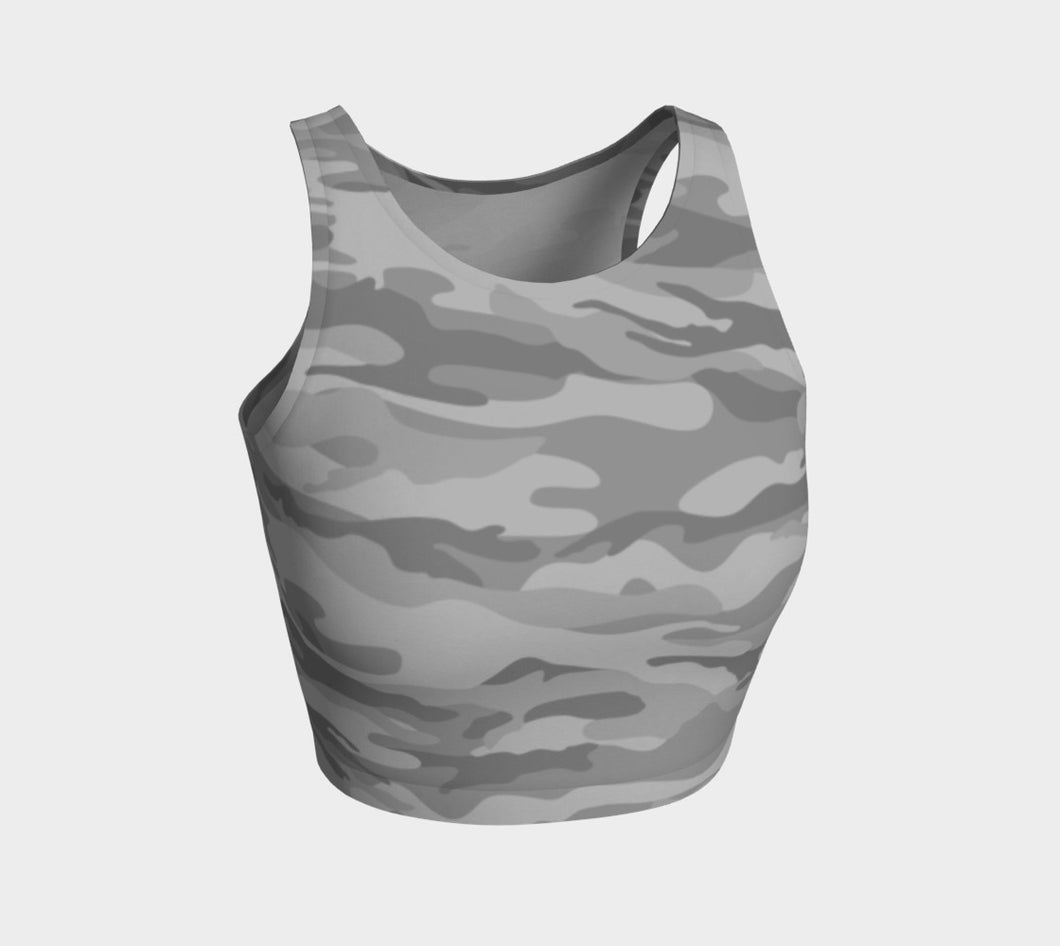 Women's Grey Camo Crop Top