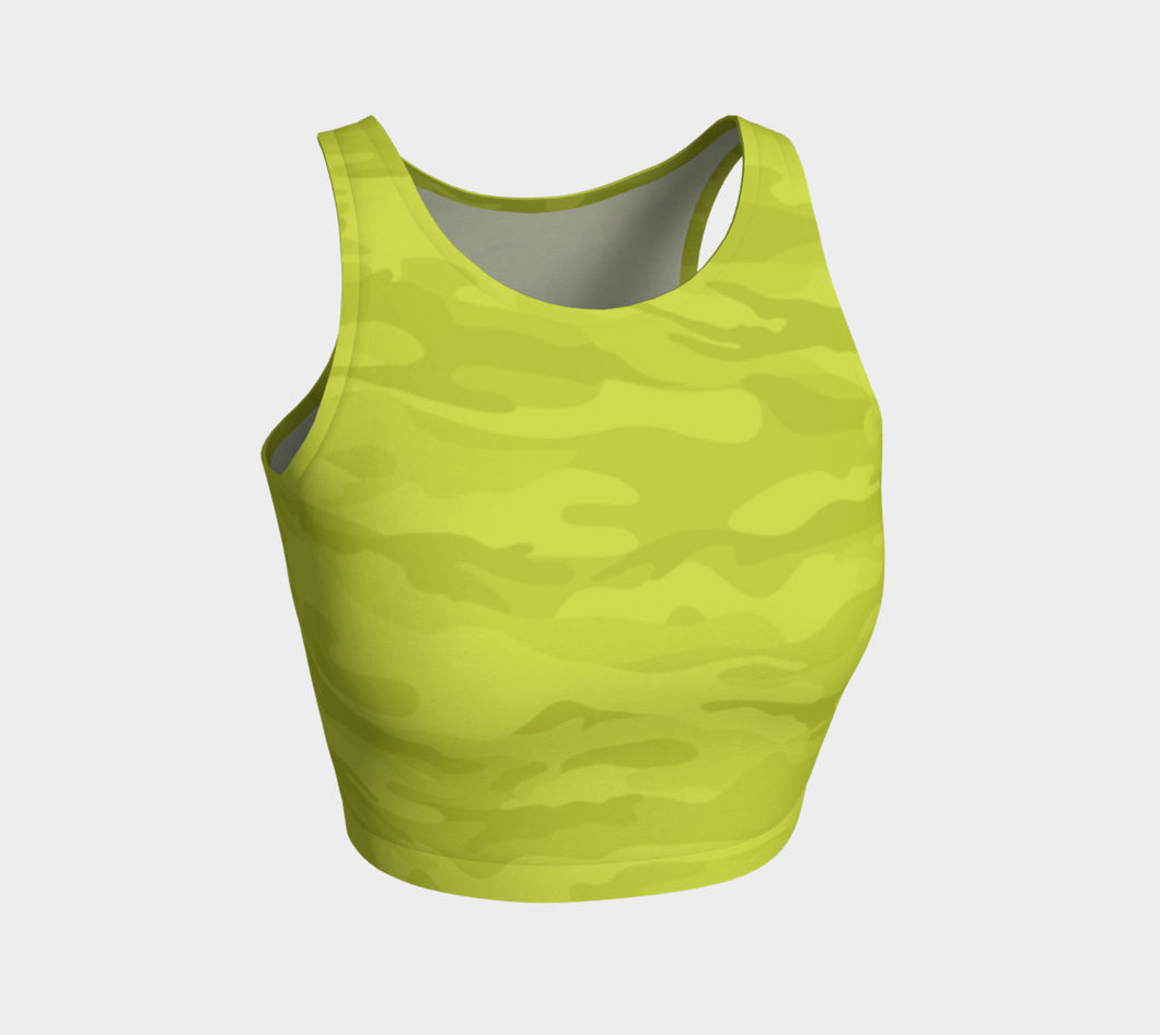 Women's Lime Camo Crop Top