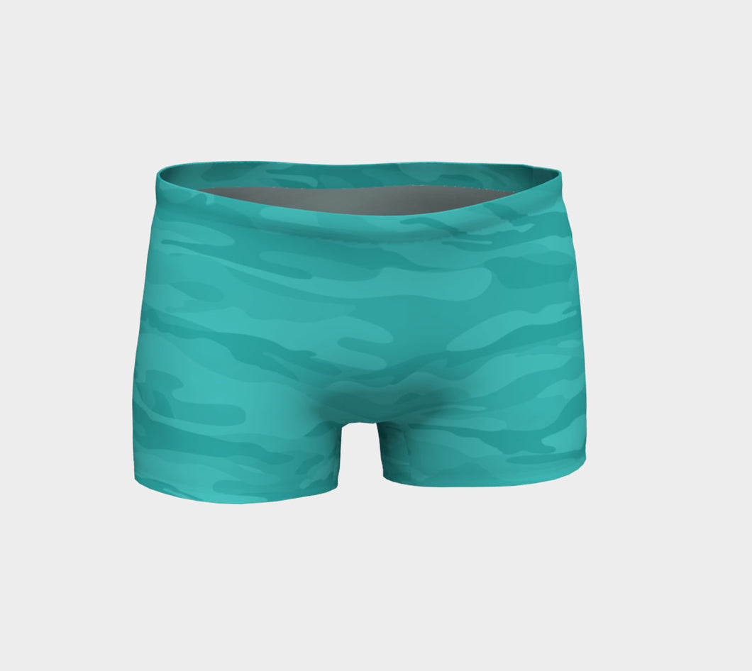 Women's Teal Camo Shorts