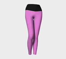 Women's Pink and Black Yoga Legging