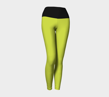 Women's Lime and Black Yoga Legging