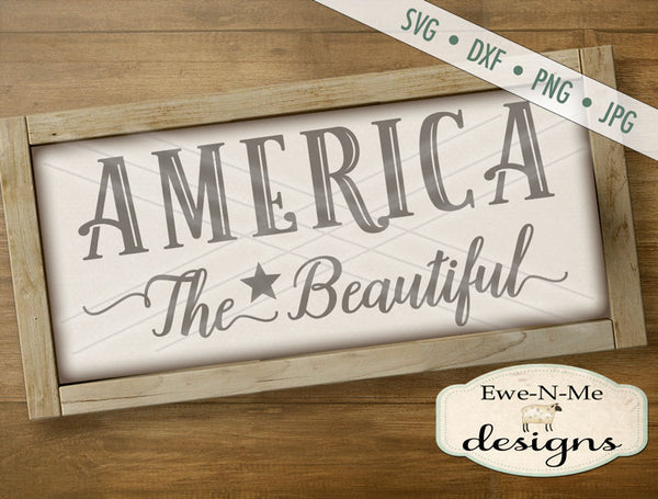America The Beautiful - SVG