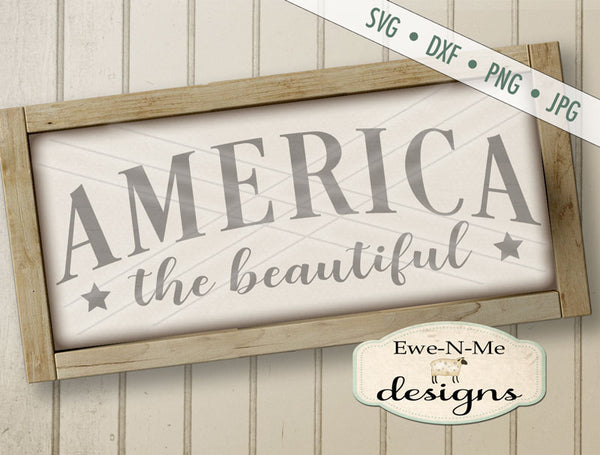 America The Beautiful 2 - SVG