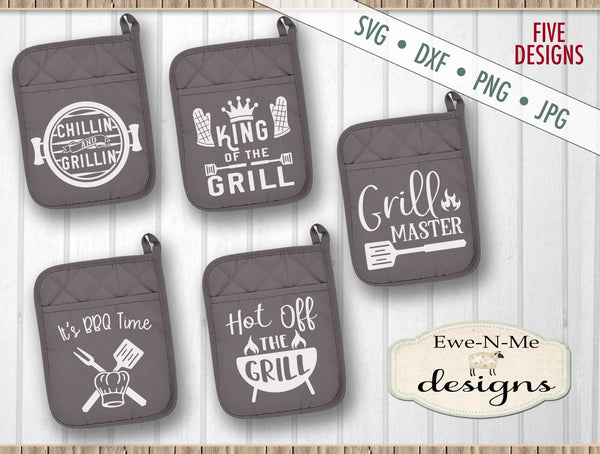 Grilling BBQ Pot Holder Bundle - SVG