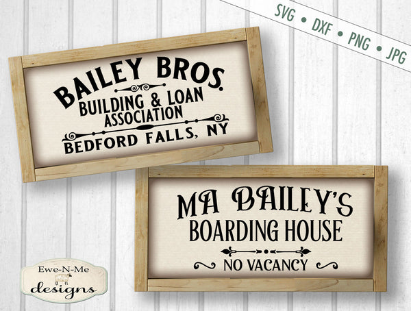 Bailey Bros Building Loan - Ma Baileys Boarding House - SVG