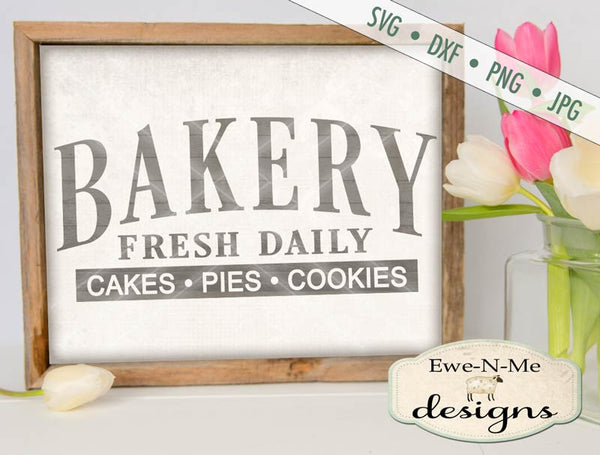 Bakery - Cakes Pies and Cookies - SVG