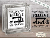 Believe - Nativity - Christmas - SVG