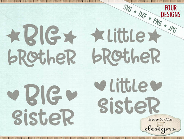 Big Brother Sister - Little Brother Sister - SVG