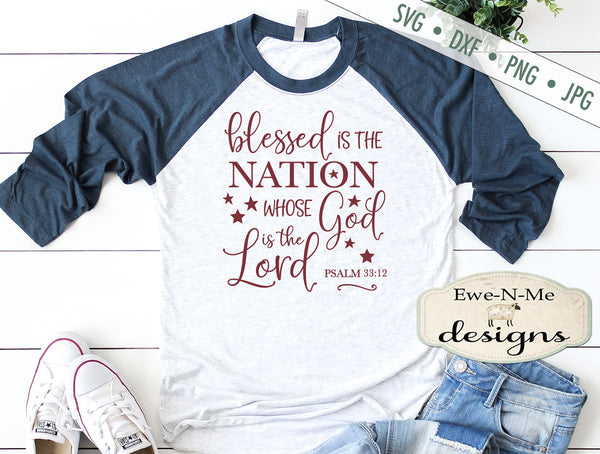 Blessed is The Nation - SVG