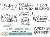 So Many Blessings Bundle - SVG