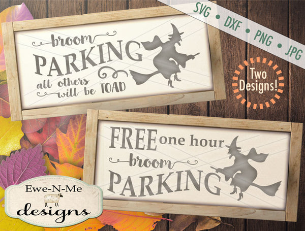 Witch Broom Parking - SVG