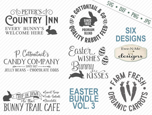 Easter Bunny Bundle Volume 3 - SVG