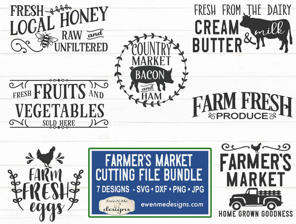 Farmers Market - SVG Bundle - Farm