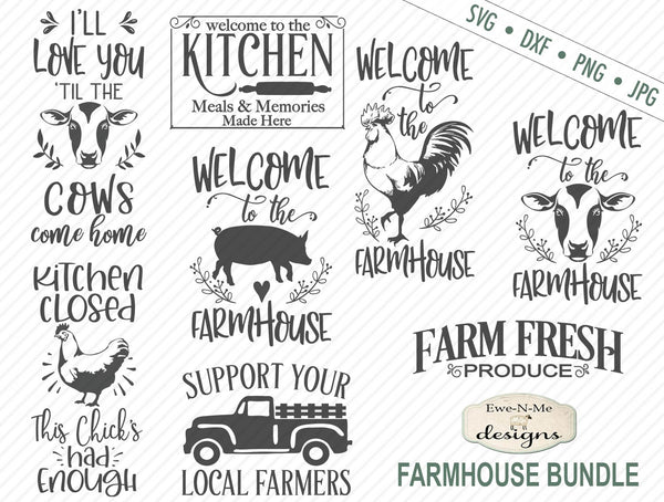 Farmhouse Bundle - SVG
