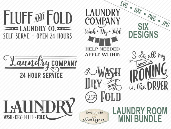 Laundry Room Bundle - SVG