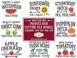 Produce Sign SVG Bundle - Farm
