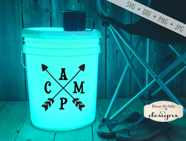 Camp Arrows - Camping Bucket - SVG