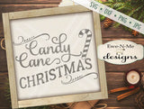 Candy Cane Christmas - SVG