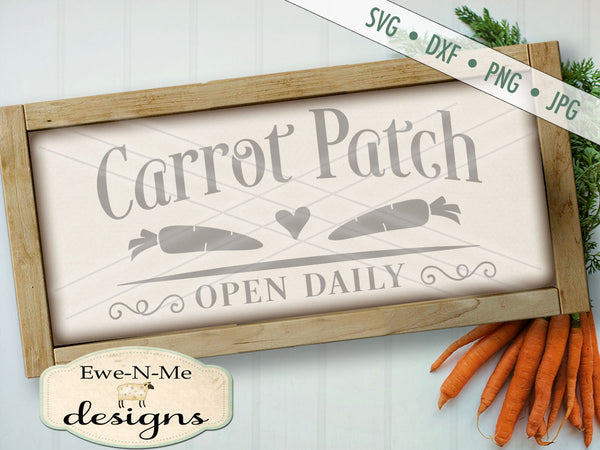 Carrot Patch - SVG