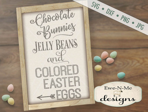 Chocolate Bunnies Jelly Beans - SVG