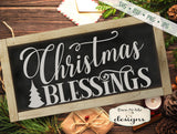Christmas Blessings - Tree - SVG