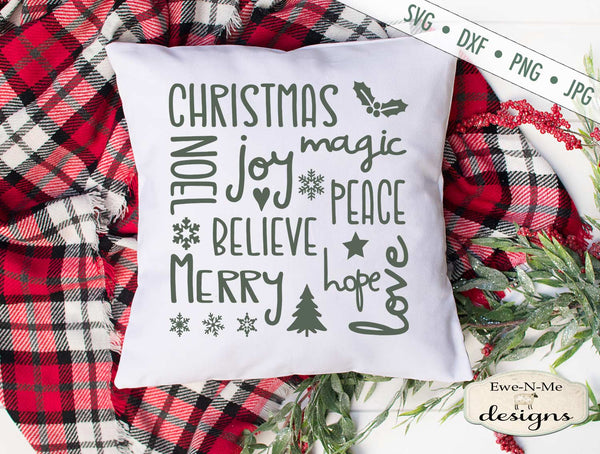 Christmas Joy Subway Design - SVG
