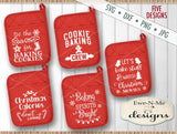 Christmas Pot Holder Bundle - SVG