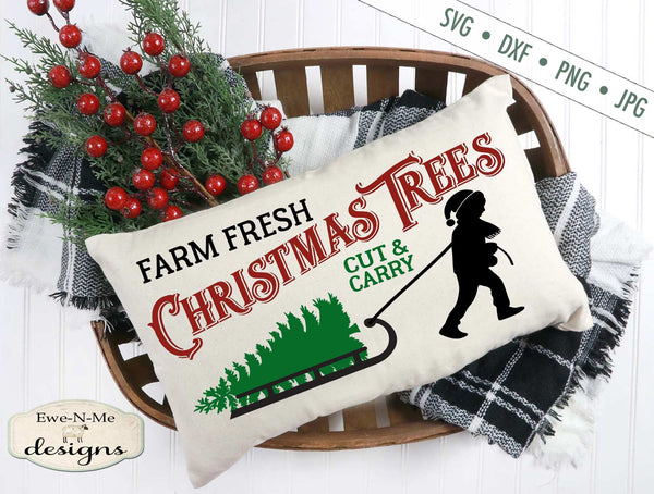 Tree Farm Sled Horizontal - SVG
