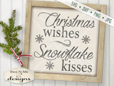Christmas Wishes Snowflake Kisses - SVG